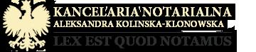 Kancelaria notarialna Notariusz Kolińska
